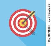 hit the target. darts. vector...   Shutterstock .eps vector #1234613293