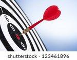 darts arrows in the target... | Shutterstock . vector #123461896