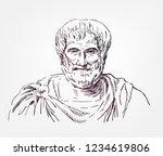 aristotle sketch style vector... | Shutterstock .eps vector #1234619806