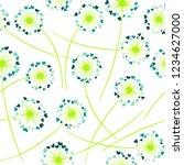 dandelion blowing plant vector... | Shutterstock .eps vector #1234627000