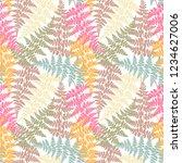 fern frond herbs  tropical... | Shutterstock .eps vector #1234627006