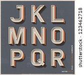 alphabet retro colour style.... | Shutterstock .eps vector #123462718