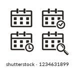 set of calendar icon sign symbol | Shutterstock .eps vector #1234631899