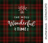 the most wonderful time.... | Shutterstock .eps vector #1234634293