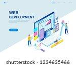 modern flat design isometric... | Shutterstock .eps vector #1234635466