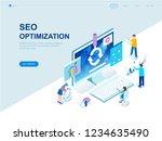 modern flat design isometric... | Shutterstock .eps vector #1234635490