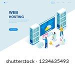 modern flat design isometric... | Shutterstock .eps vector #1234635493