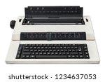 Electronic Typewriter Isolated...