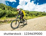sunshine view of man in special ... | Shutterstock . vector #1234639000