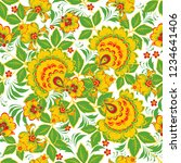 floral seamless pattern in... | Shutterstock .eps vector #1234641406