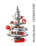 abstract christmas tree of car...   Shutterstock . vector #1234641430