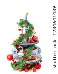 abstract christmas tree of car...   Shutterstock . vector #1234641439