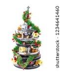 abstract christmas tree of car...   Shutterstock . vector #1234641460
