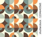 seamless pattern design in... | Shutterstock .eps vector #1234643560