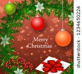 merry christmas winter holiday ... | Shutterstock .eps vector #1234650226