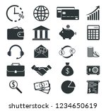 set of banking icons. money... | Shutterstock .eps vector #1234650619
