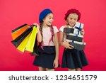 shopaholic concept. shopping... | Shutterstock . vector #1234651579