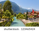 beautiful view of the river and ...   Shutterstock . vector #123465424