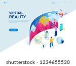 modern flat design isometric... | Shutterstock .eps vector #1234655530