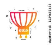 light bulb icon. lamp gu10...   Shutterstock .eps vector #1234658683