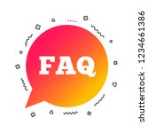 faq information sign icon. help ... | Shutterstock .eps vector #1234661386