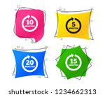 every 5  10  15 and 20 minutes... | Shutterstock .eps vector #1234662313