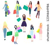 fashion shopping in stores | Shutterstock .eps vector #1234664986
