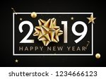 new year 2019 happy christmas... | Shutterstock .eps vector #1234666123