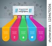 3d infographic design template... | Shutterstock .eps vector #1234670206