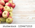 a lot of red and green soft... | Shutterstock . vector #1234671313