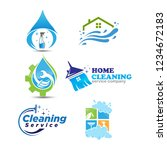 set of cleaning service... | Shutterstock .eps vector #1234672183