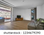 interior of light spacious...   Shutterstock . vector #1234679290