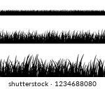 grass meadow border vector... | Shutterstock .eps vector #1234688080
