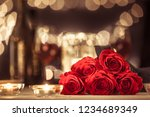 bouquet of red roses in a... | Shutterstock . vector #1234689349