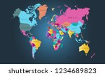 world map vector | Shutterstock .eps vector #1234689823