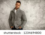portrait of handsome man in... | Shutterstock . vector #1234694800