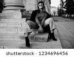 african american fashion girl... | Shutterstock . vector #1234696456