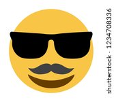 emoji mustache face with...