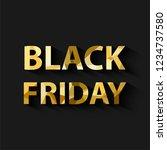 golden color black friday sale... | Shutterstock .eps vector #1234737580
