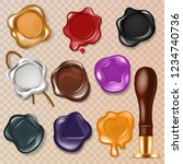 wax seal vector vintage sealing ... | Shutterstock .eps vector #1234740736
