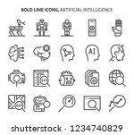 artificial intelligence  bold... | Shutterstock .eps vector #1234740829