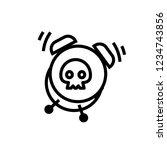 deadline icon  vector... | Shutterstock .eps vector #1234743856