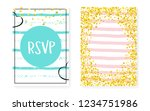 bridal shower set with dots and ... | Shutterstock .eps vector #1234751986