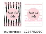 bridal shower set with dots and ... | Shutterstock .eps vector #1234752010