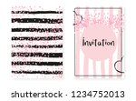 bridal shower card with dots... | Shutterstock .eps vector #1234752013