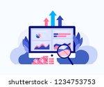data analysis concept. seo web...   Shutterstock .eps vector #1234753753