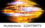 led light. abstract effect.... | Shutterstock . vector #1234758973