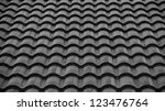 Red Tiles Roof Background Blac...