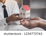 real estate agent... | Shutterstock . vector #1234773763