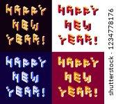 vector isometric lettering... | Shutterstock .eps vector #1234778176